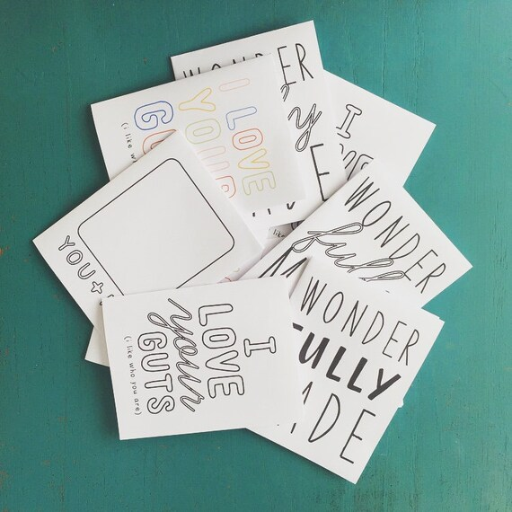 Instant Printable Cards for Kids - Foldable Greeting Cards - Kids Cards - Cards for kids - Letter size Printables - INSTANT DOWNLOAD