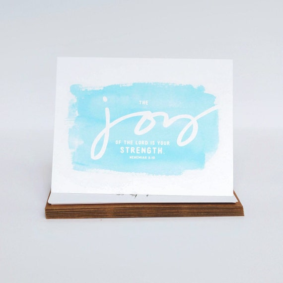 Thank You Cards, Joy Cards, Nehemiah 8 10 Cards, Stationery Set, Blank Inside Cards, Notecards, Encouragement Card Set, Christmas Gifts