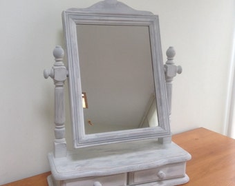 Dressing table Shabby Chic Mirror painted in Annie Sloan chalk paint.