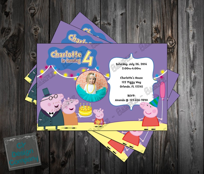 Peppa Pig Birthday Party Thank You Card Printable