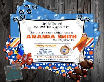 Finding Nemo - Little Fish - Baby Shower - Invitation Printable