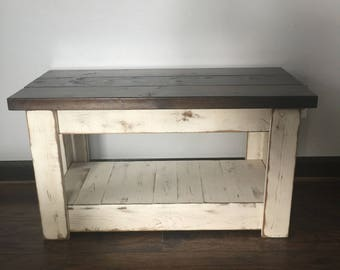 More Colors Primitive Wood Bench TV Stand  Distressed Tv Stand N8