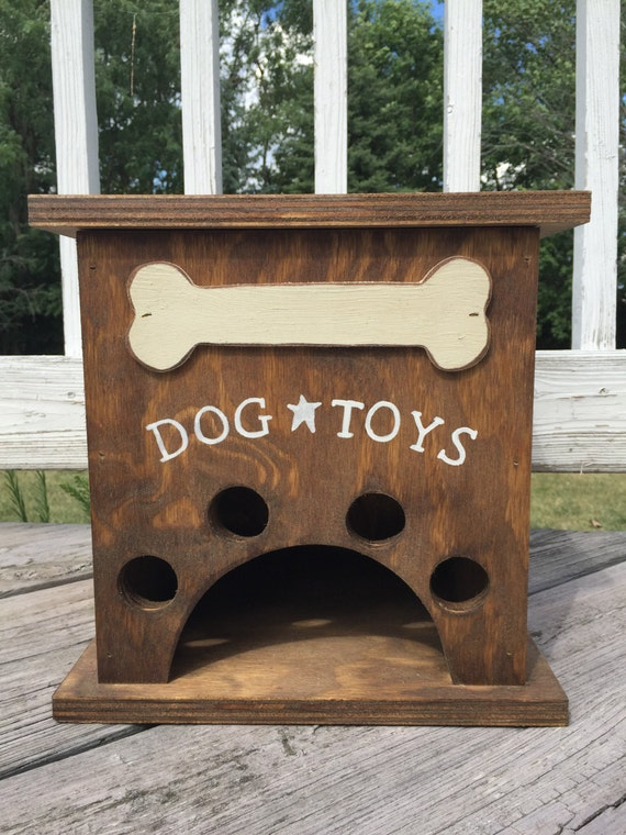 Genial Dog Toy Storage Box With Bone Primitive | Etsy