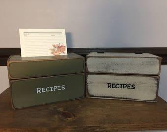 Primitive Recipe Box