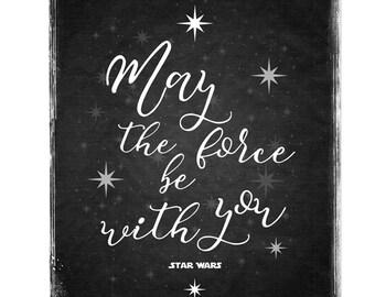 Que la Force soit avec vous - citation de Star Wars