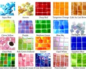 25 Tiffany Glass Mosaic Tiles, Stained Glass Tiles, Colorful Glass Tiles, Glass for Mosaic, Glass Mosaic PIeces, Tiffany Tiles, 3 4 Inch
