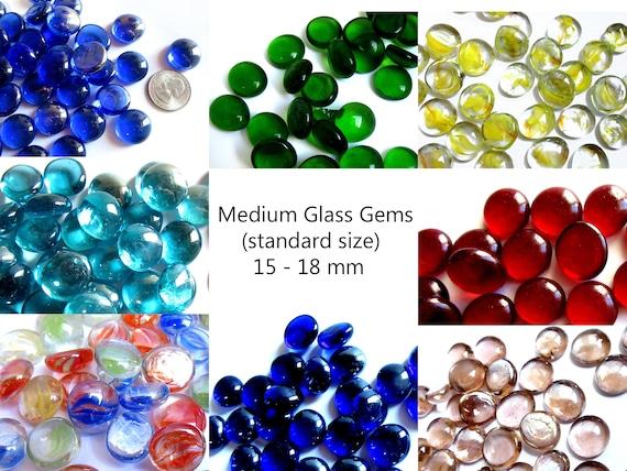 50 Medium Glass Gems Vase Fillers Vase Gems Flatback Etsy