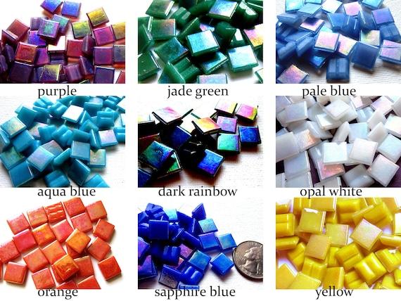 Mini Glass Tiles Tiny Colorful Tiles Tiny Glass Tiles 100 Tiny Mosaic Tiles Mini Mosaic Tiles Mini Square Tiles, Tiny Mosaic Pieces