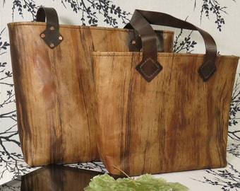 Handmade Leather Bag ~ Rissy Tote ~ Artistic Grain Hand-Dyed