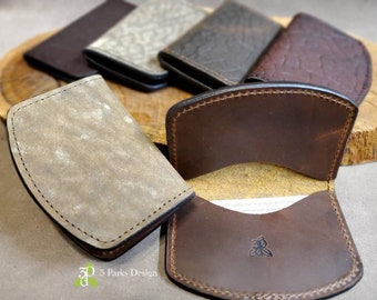 Leather Wallet, Bison Leather, Front Pocket Wallet, 2-Pocket, Leather Bifold, Credit Card Holder, Minimalist Wallet, Small Leather Wallet