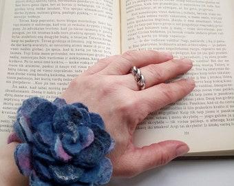 Felted bracelet purple pink multicolor modern fiber art,pink felted bracelet, handmade wool felted bracelet,women's accessories,felted cuff