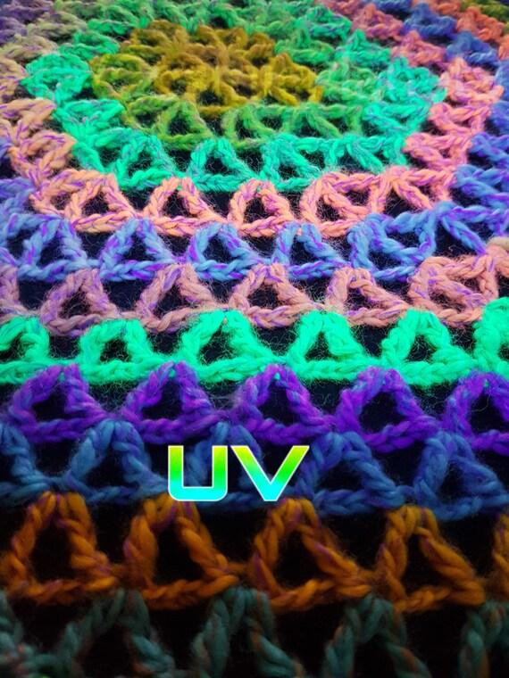 Flor de vida geometría sagrada Crochet arco iris tiro chal DMT | Etsy
