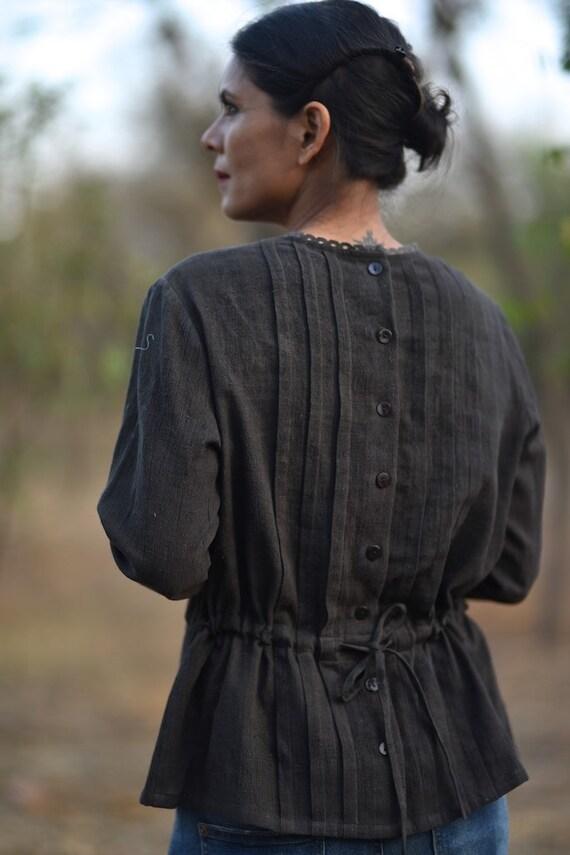 Blouse Handmade with Cotton Kala opening Back Peoria Medium gqI5B