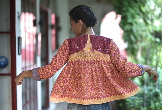 Hand of Goldstein amp; Small a Embroidered Kediya Crafted Jacket Vida ~ Kind One Hand qPnxY6C