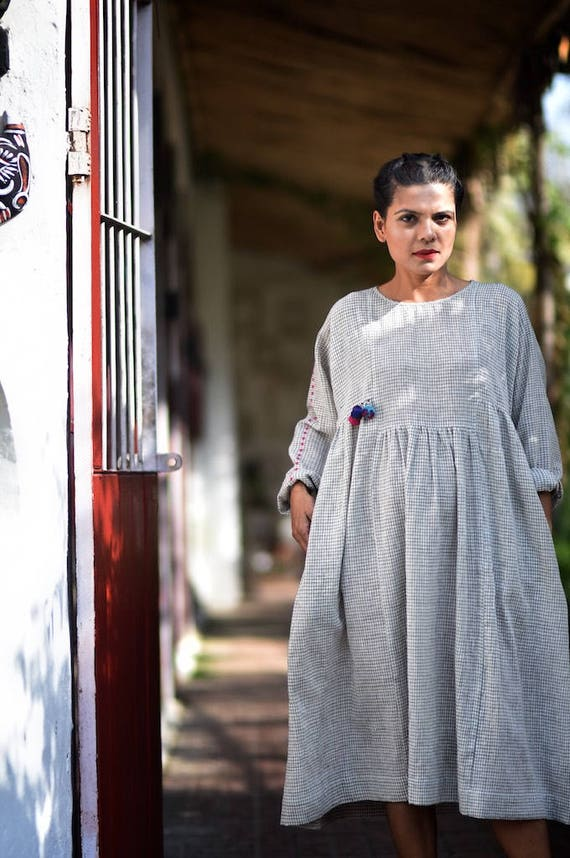 Small Pure Jaipur kalacotton dress handloom q0CX0Tw