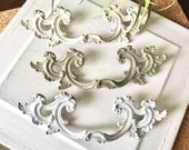 NOW in STOCK Drawer Pull CHALK Painted French Provincial Furniture Handle 3 Colors