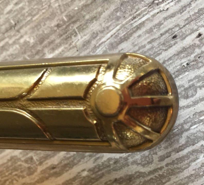 Vintage Drawer Door Pull Solid Keeler BRASS 38283-11 Art Deco A++
