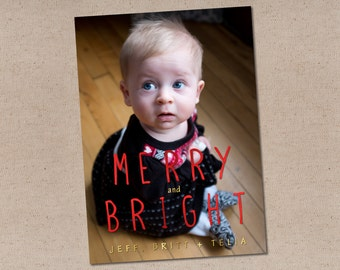 Tall Merry: Holiday Photo Card
