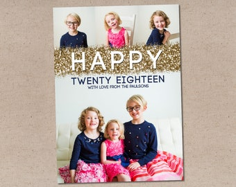 Sparkly New Year: Holiday Photo Card
