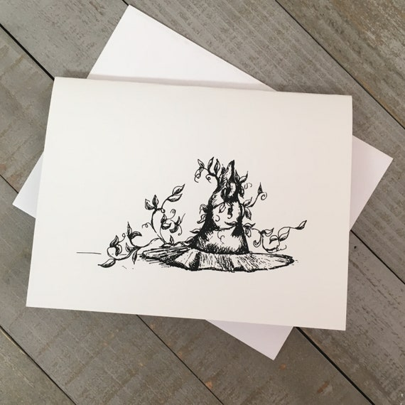 """It's Witchcraft! 4.25""""x5.5"""" blank notecard created from my illustration. Use as a greeting card, thank you note, or just to say hello!"""