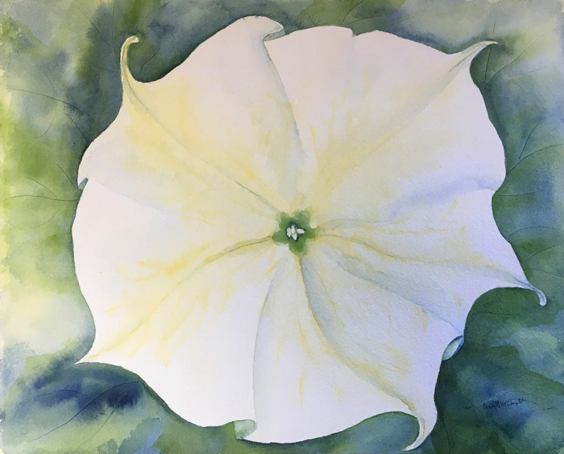 Moon Glow is a transparent watercolor by Cheryl McDonald image 0