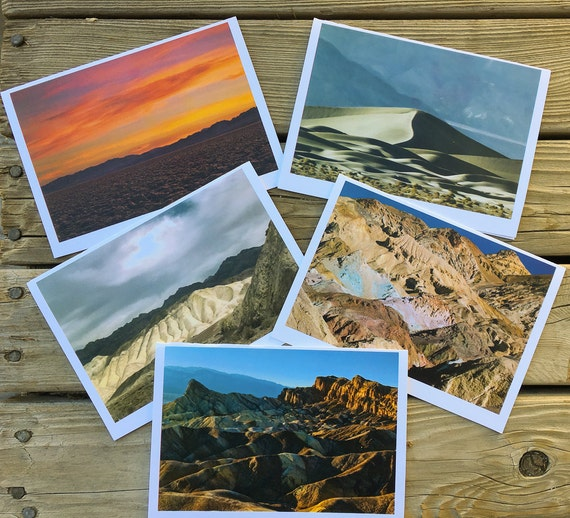 "5""x7"" photo greeting cards series of Death Valley National Park"