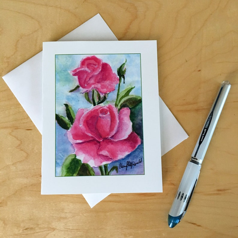 Pink Roses Custom Stationery for Mary Kay Consultants. image 0