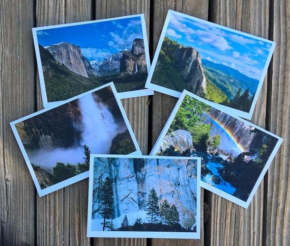"5""x7"" photo greeting cards series of Yosemite National Park"
