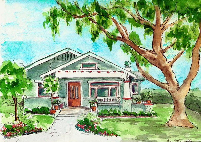 Home Portraits or Other Architectural Illustrations in image 0