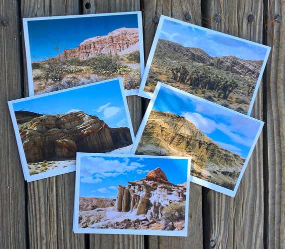 "5""x7"" photo greeting cards series of Red Rock Canyon, California State Park"