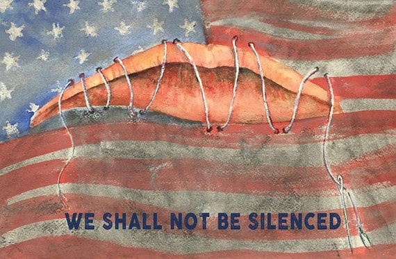 We Shall Not Be Silenced postcard