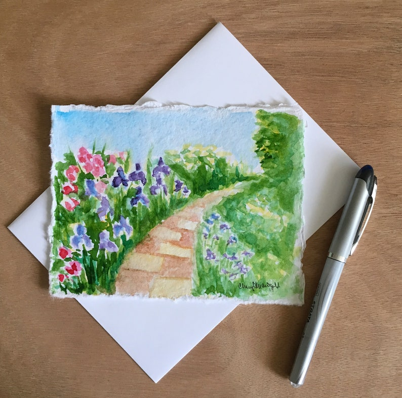 Hand-painted  card approx. 4.5x6.A perfect gift image 0