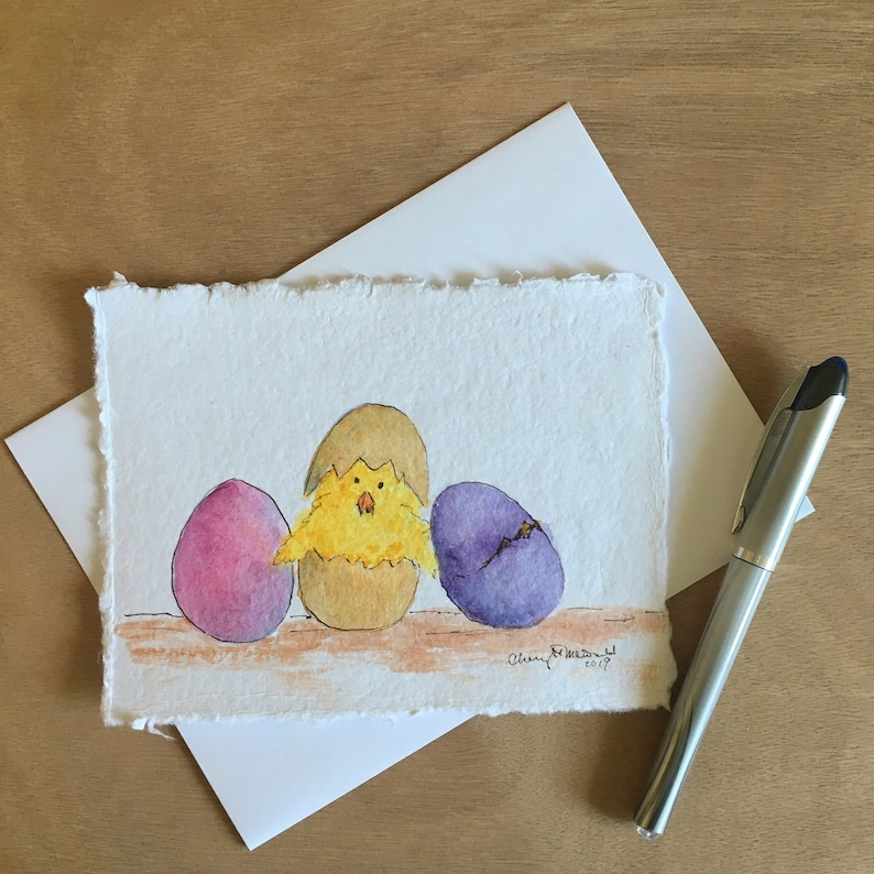 A Cracked Easter is a hand-painted Easter Card with a cute image 0