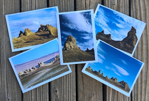 "5""x7"" photo greeting cards series of the Trona Pinnacles"