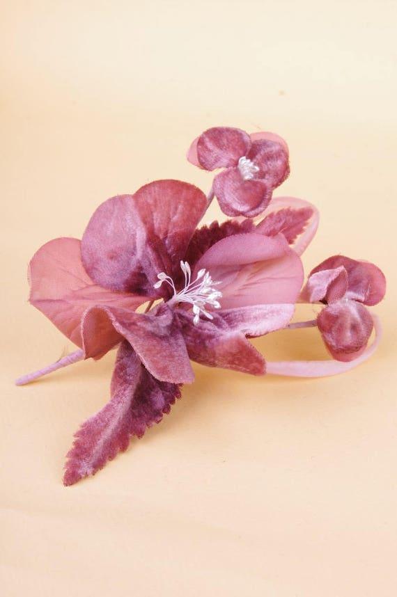 Vtg Old Rose Pink Flower Corsage Never Useddeadstock Etsy