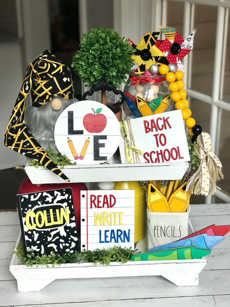 Back to School Tiered Tray Decor // Back to School Tiered Tray image 0