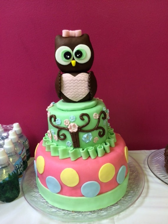 Terrific Custom Homemade Owl Birthday Cake Etsy Funny Birthday Cards Online Elaedamsfinfo