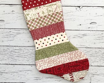 Quilted Stocking - Overnight Delivery - Christmas Stocking - Handmade Gifts