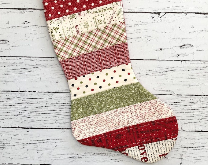 Quilted Stocking - Overnight Delivery