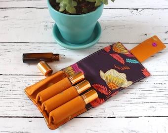 Essential Oil Wallet - Plum Flowers - 4 Rolls
