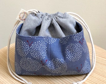 Knitting Bag - Purple Butterflies