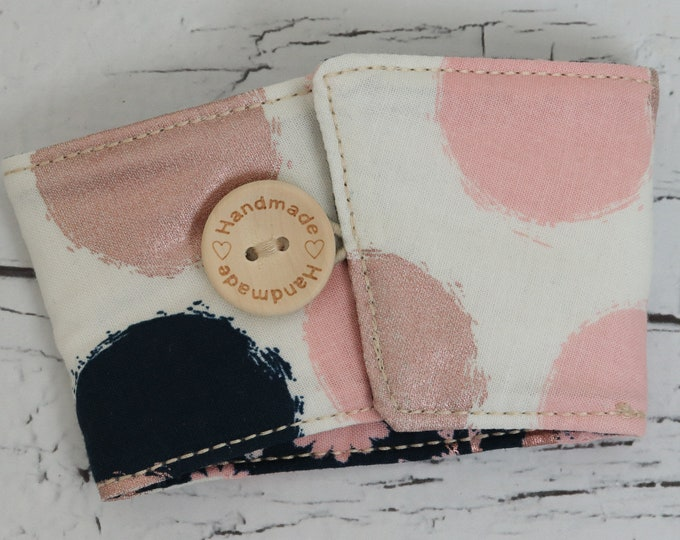 Coffee Sleeve - Cup Cozy - Pink Dots