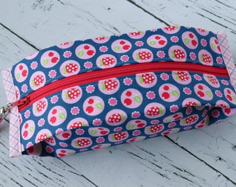 Popcorn Pouch - Cherries & Berries - Zippered Pouch