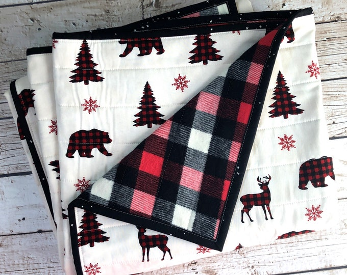 Whole Cloth Quilt - Holiday Lodge - Lap Blanket