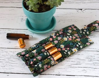 Essential Oil Wallet - Wild Flowers - Wildwood - Rifle Paper Co Fabric - 4 Pack