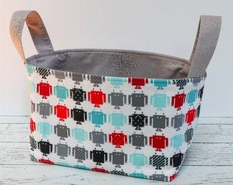 Fabric Basket - Robots