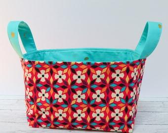 Fabric Basket - Bright Flowers