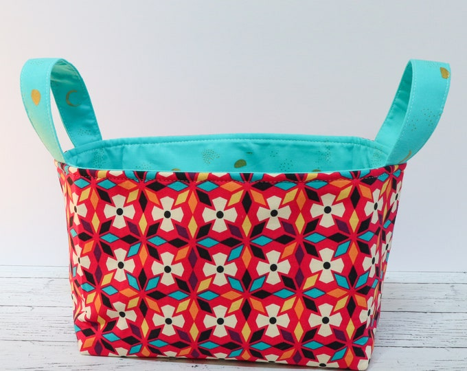 Fabric Basket - Bright Flowers