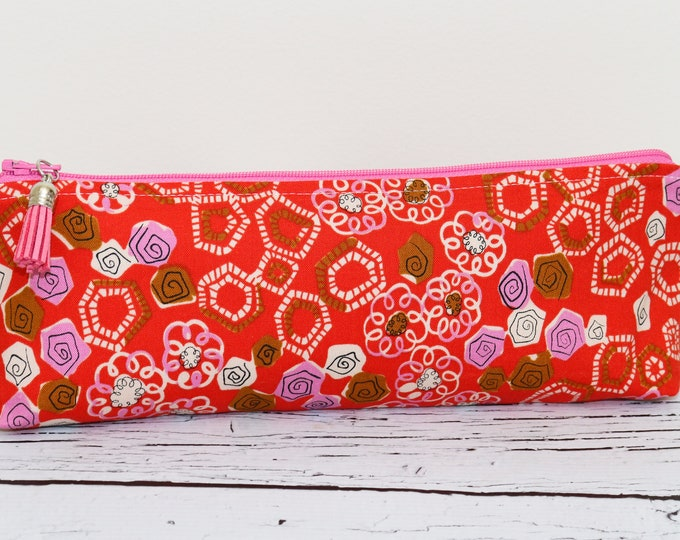 Pencil Pouch - Pink Roses