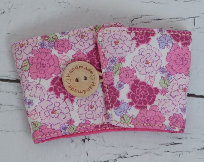 Coffee Sleeve - Cup Cozy - Pink Flowers